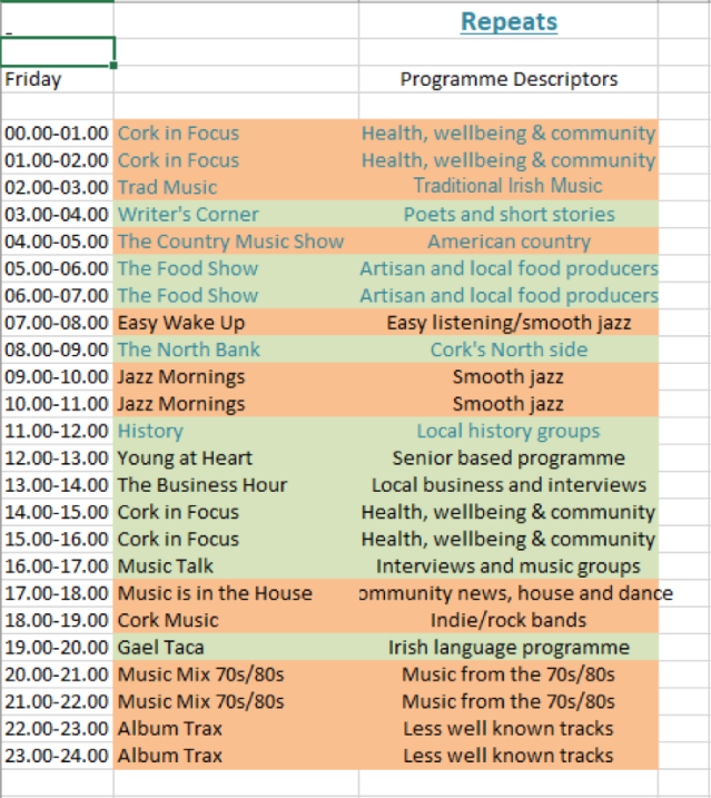 programme schedule1